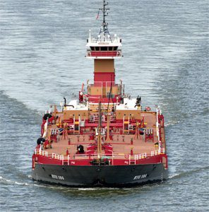 U.S. barge operators transport domestic crude on inland rivers