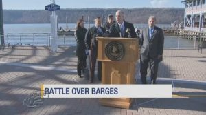 Activists voice concerns about possible Coast Guard barges on Hudson